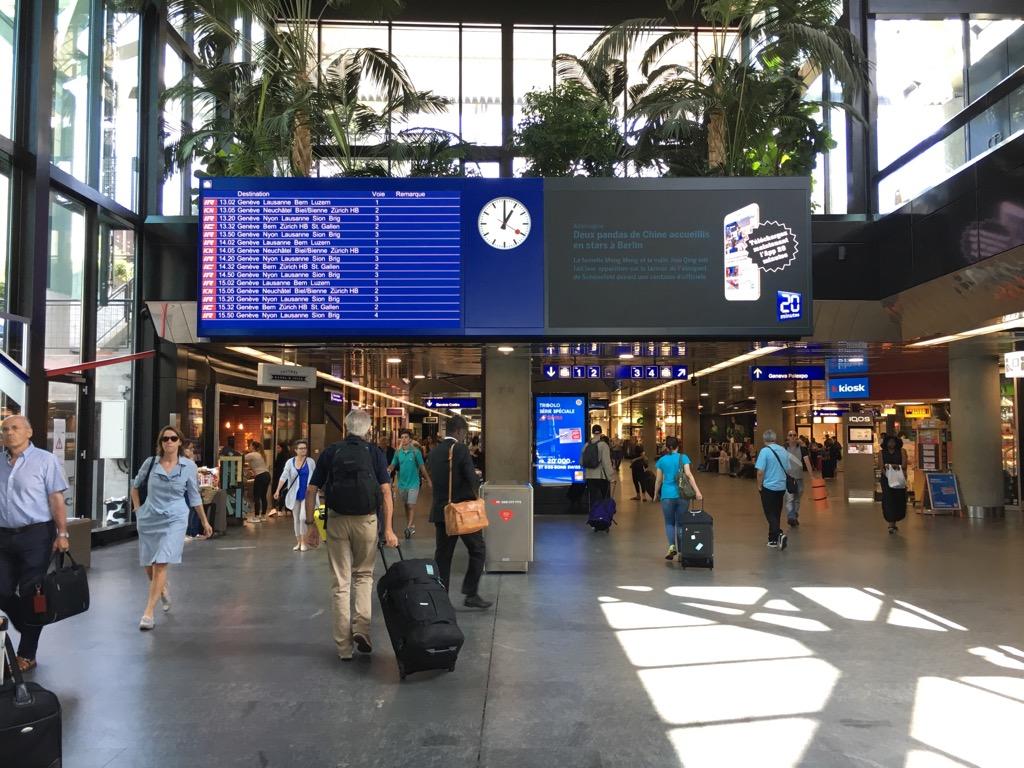 スイスのジュネーブに到着!空港から市内へは無料で行ける「ユニレゾ ...