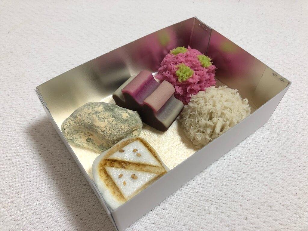 嘯月(しょうげつ)の和菓子5つ