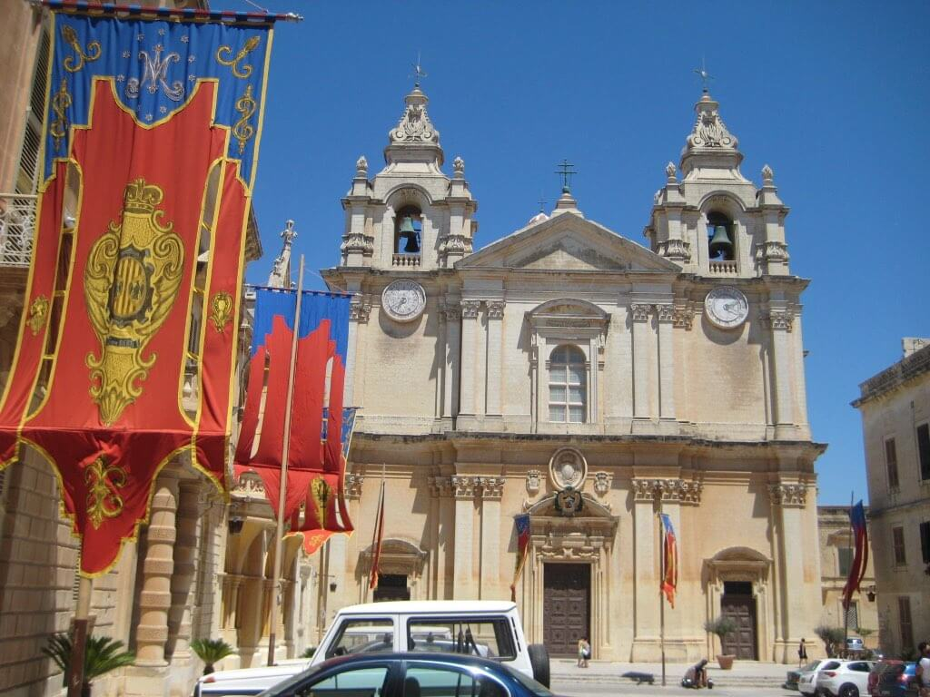 イムディーナの歴史的建造物「聖パウロ大聖堂」
